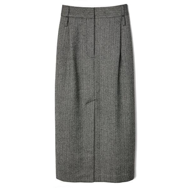 Tibi Herringbone Pencil Skirt