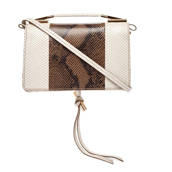 Stella McCartney Small Embossed Snake & Python Shoulder Bag