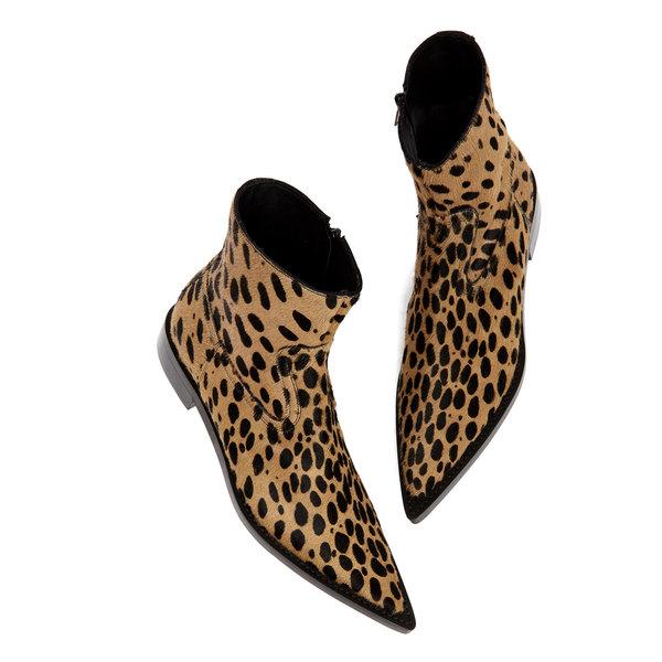 MM6 Leopard Print Boots