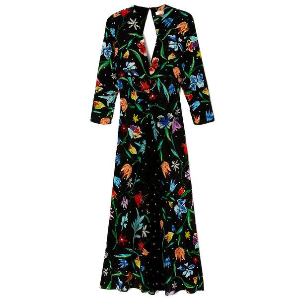 Rixo London Rose Backless V-Neck Dress
