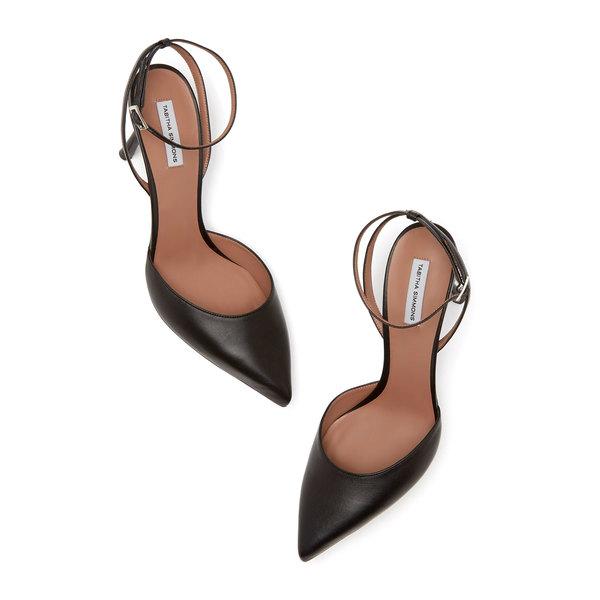 Tabitha Simmons Sen Black Strappy Heels
