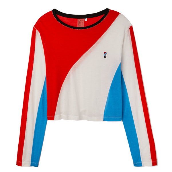 P.E. Nation The Spiral Long Sleeve Top