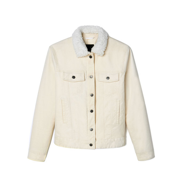 ATM Anthony Thomas Melillo Sherpa-Lined Corduroy Jean Jacket