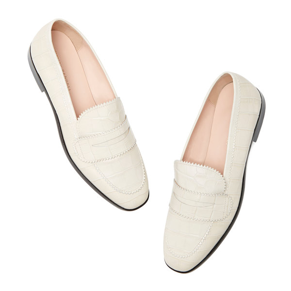 Loeffler Randall Beatrix Pinked Edge Loafers