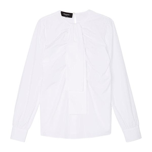 Rochas Tie-Neck Cotton Blouse