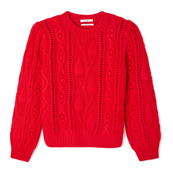 Co Wool Cashmere Cable Knit Sweater