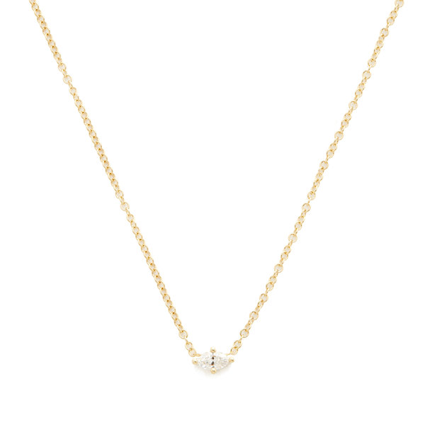 SARA WEINSTOCK Marquis Horizontal Necklace