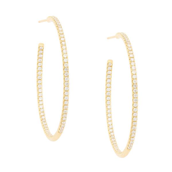Sara Weinstock Veena Pavé Hoop Earrings