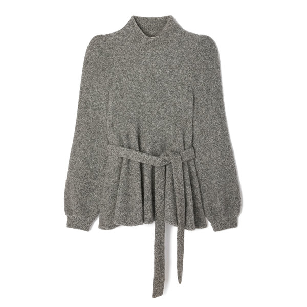 Co Cashmere Crepe Belted Sweater