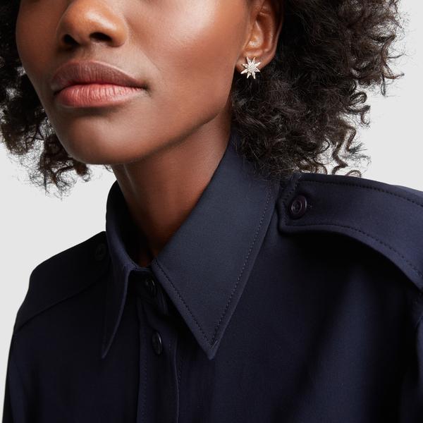 BONDEYE JEWELRY Calypso White Topaz Star Stud Earrings