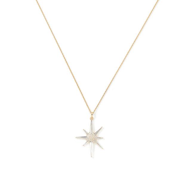BONDEYE JEWELRY Astraea White Topaz Star Pendant Necklace