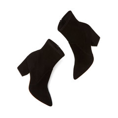 Isla Stretch-Suede Ankle Booties