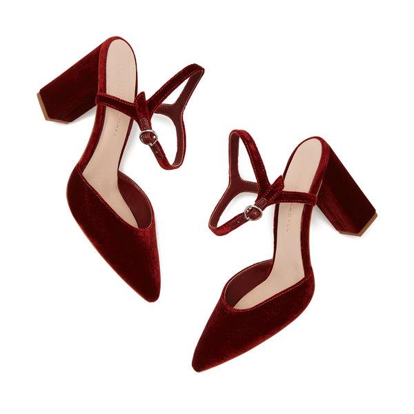 Loeffler Randall Leily Velvet Ankle-Strap Pumps