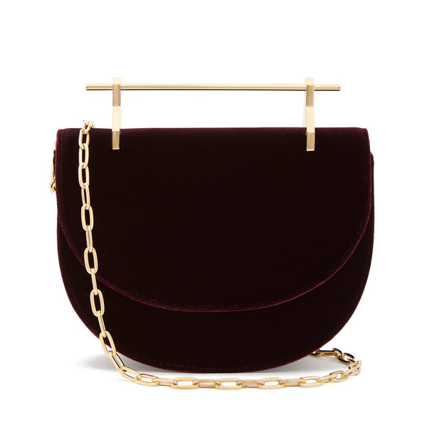 M2MALLETIER Mini Halfmoon Velvet Bag