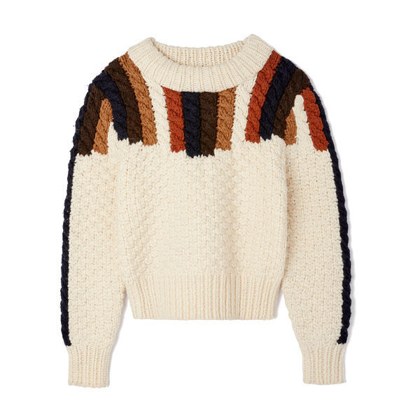 Sea Aspen Chunky Hand-Knit Sweater