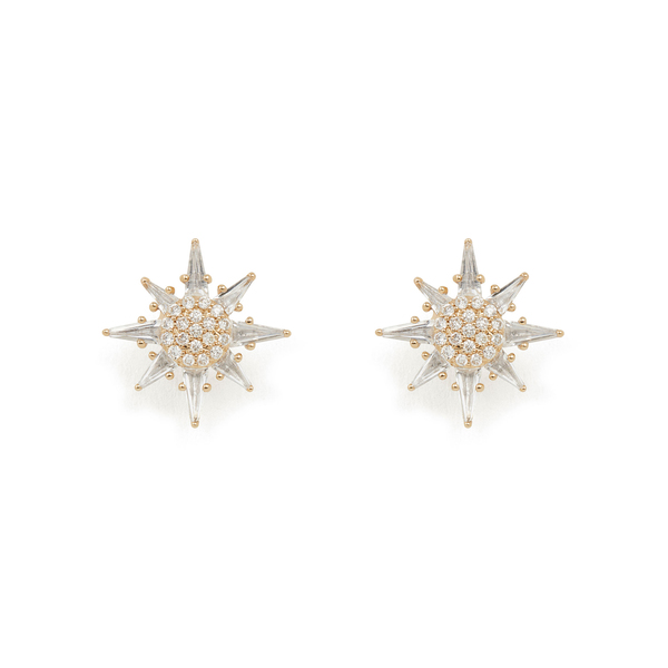Bondeye Jewelry Calypso White Topaz Star Stud Earrings