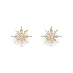 Calypso White Topaz Star Stud Earrings