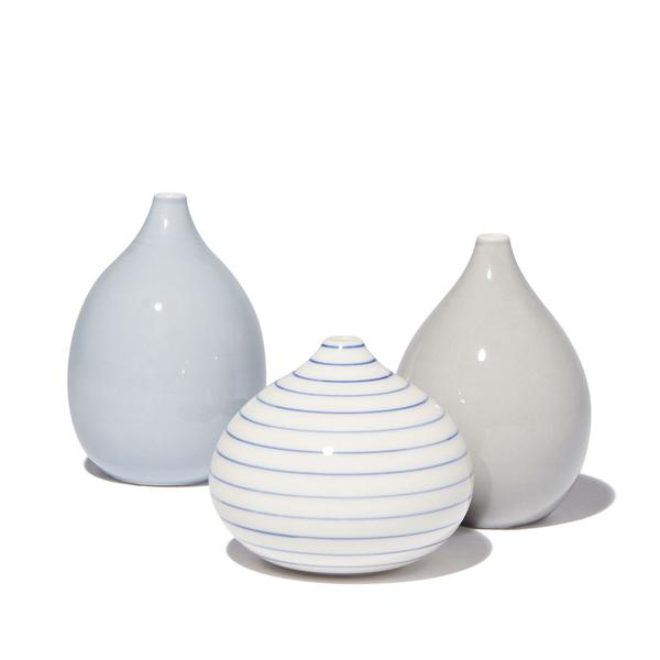 ANNE BLACK  Stripe Drop Vase, Low