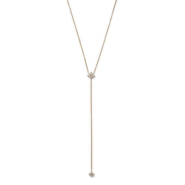 Sara Weinstock Four Diamond Cluster Lariat Necklace