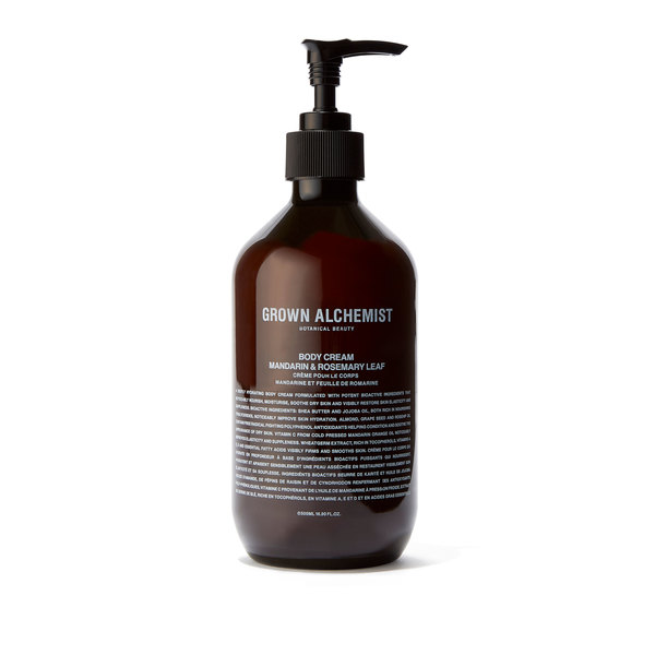 Grown Alchemist Body Cream: Mandarin & Rosemary Leaf - 500mL