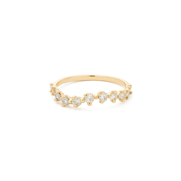 Sophie Ratner Half Band Diamond Swell Ring