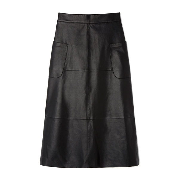 G. Label Marie Leather A-Line Skirt