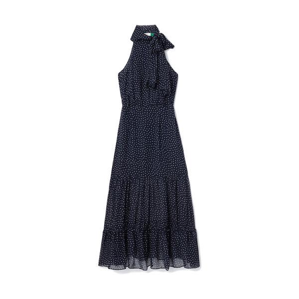 Rixo London Elanor Tiered Halter-Neck Dress