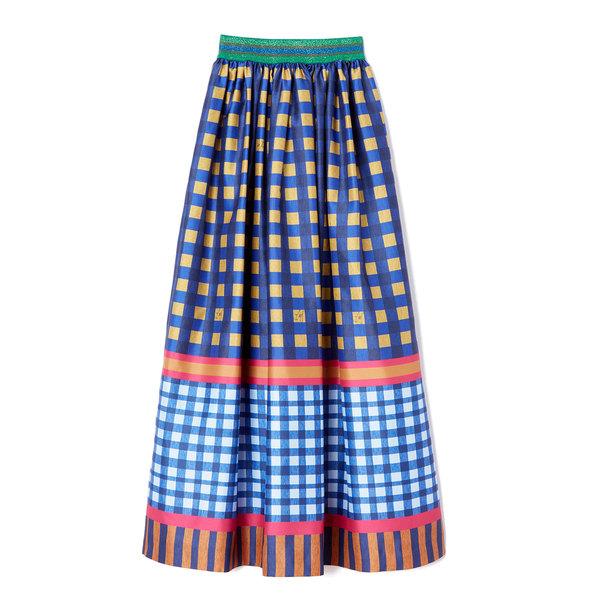 Stella Jean Gonna Checked Skirt