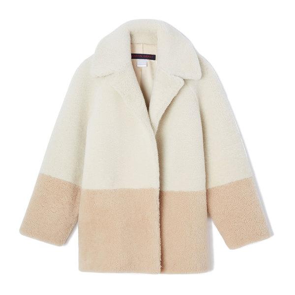 Martin Grant Color-Blocked Shearling Jacket