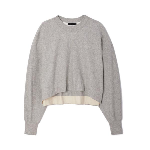 Bassike Raw Cropped Fleece Sweatshirt