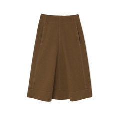 Flared Khaki Skirt