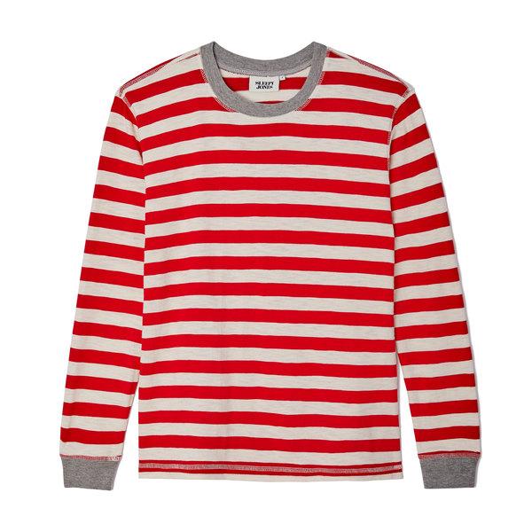 Sleepy Jones Helen Long-Sleeve Cotton PJ Shirt