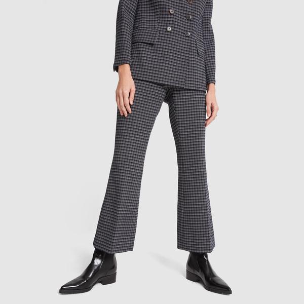 Sonia Rykiel Check Pleated Pants