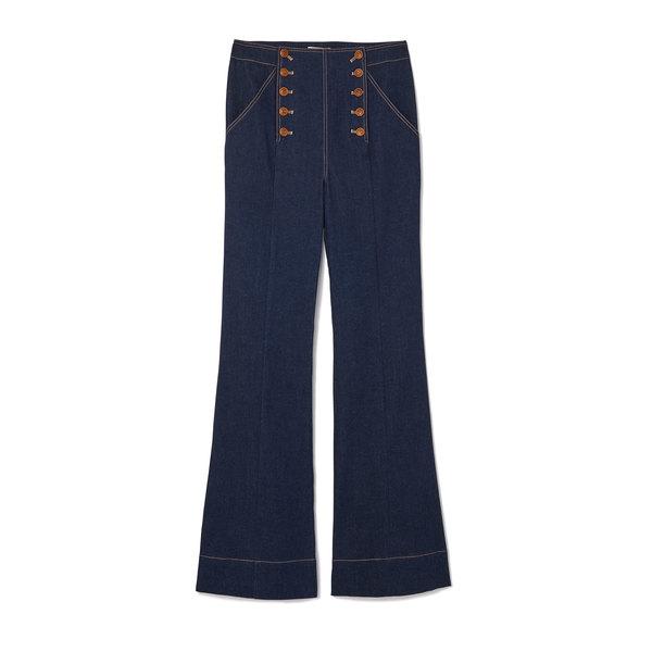 Ulla Johnson Ashton Button-Front Jeans