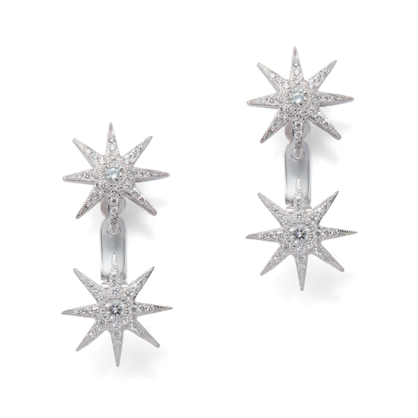 Colette Jewelry Double Plyxis Floater Star Earrings