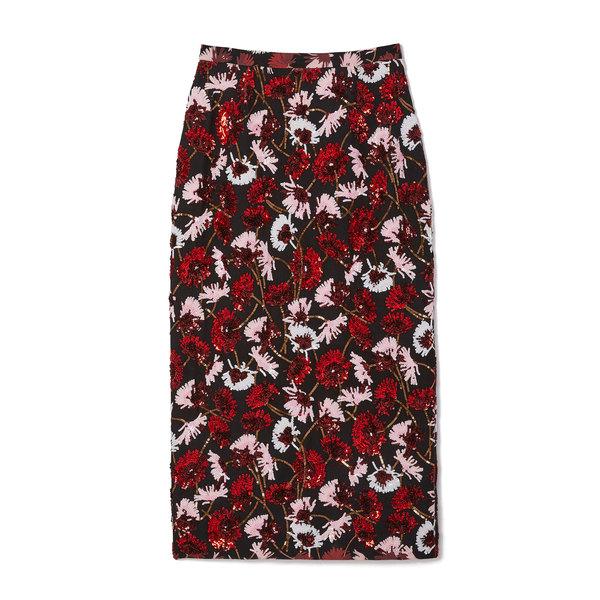Rochas Flower Print Skirt