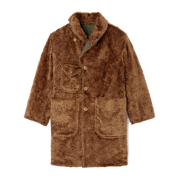 Nepenthes Shawl Collar Reversible Coat