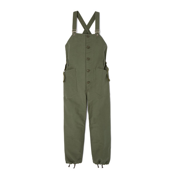 Nepenthes Olive Cotton Overalls
