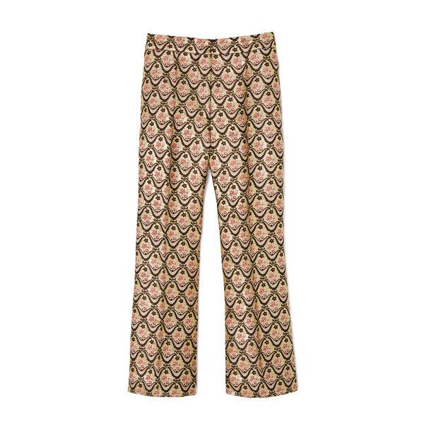 Rochas Metallic Jacquard Pants