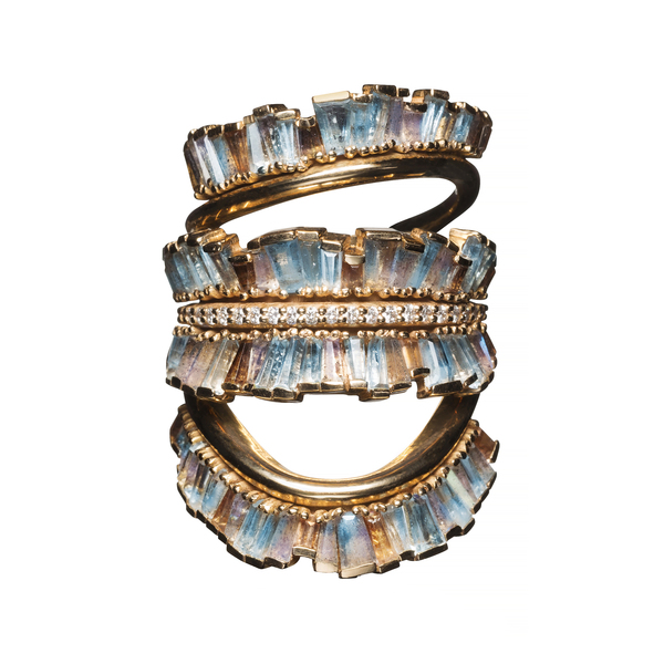 Nak Armstrong Triple Ruched Ribbon Ring