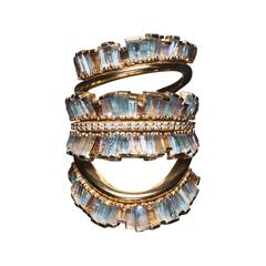 Triple Ruched Ribbon Ring