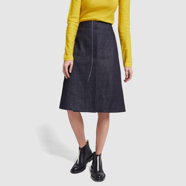 MARNI Denim Midi Skirt