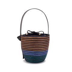 Tri-Tone Breton Bucket Bag