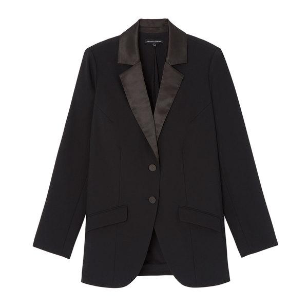 goop x Universal Standard Wool Tuxedo Jacket