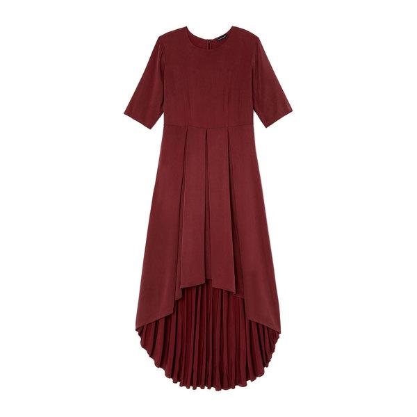 goop x Universal Standard Brushed-Back Hi-Low Dress