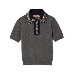 Collared Melange Sweater