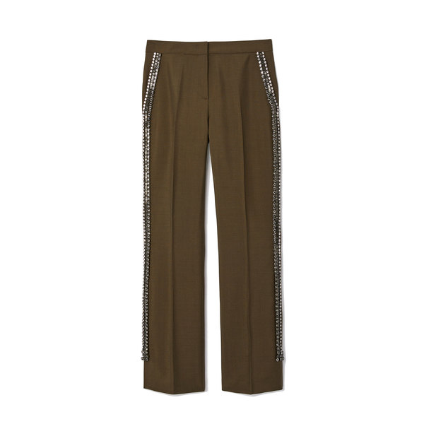 No. 21 Military Pants With Rhinestones