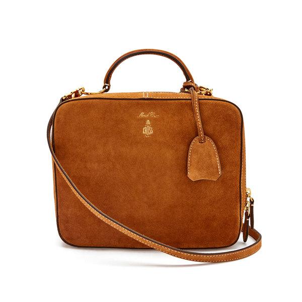 Mark Cross Laura Suede Handbag