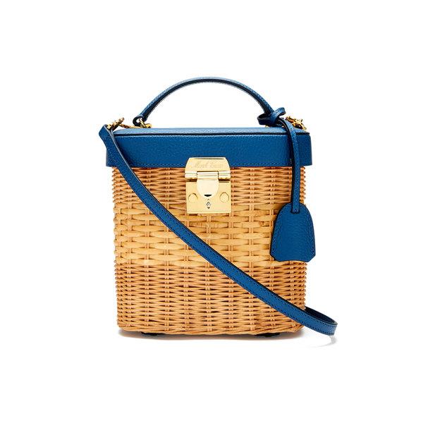Mark Cross Benchley Rattan Handbag