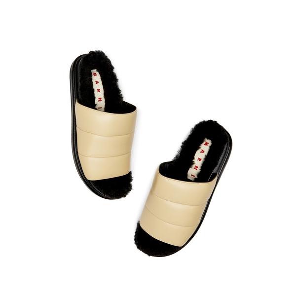 Marni Fussbett Slide Leather Sandals